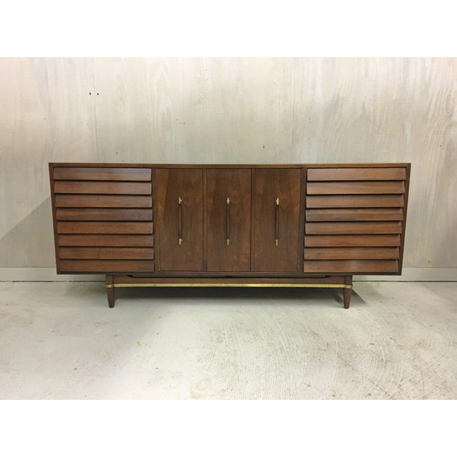 Brass Dania Lowboy Dresser for American of Martinsville by Merton Gershun For Sale - Image 7 of 7