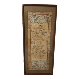 Antique Chinese Imperial Dragon Panel For Sale