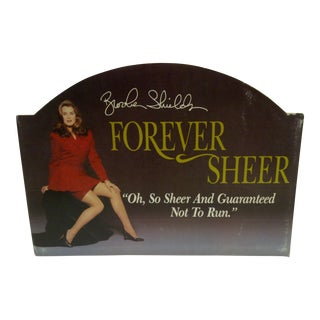Brooke Shields Pantyhose Advertising Sign