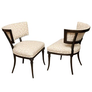 Mid-Century Modern Sculptural Grosfeld House Side Chairs- A Pair For Sale