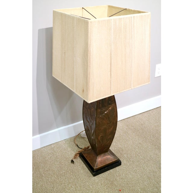 Mid 20th Century Midcentury 1960's Copper Lamp For Sale - Image 5 of 5