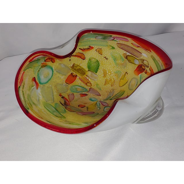 Truly vintage Murano glass, but the brilliant colors make it quite modern and VERY relevant. The yellow pallette serves as...