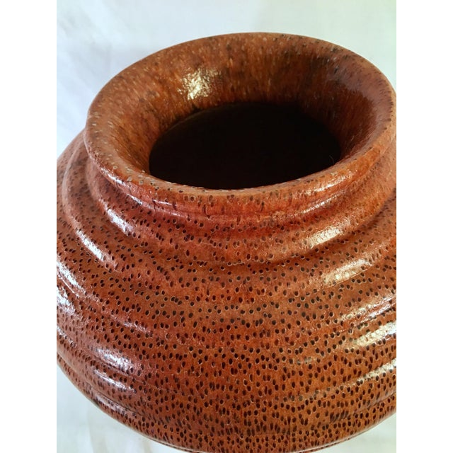 1991 Boho Chic Large Artisan Turned Bloodwood Palm Beehive Vase by John Penrod (Signed) For Sale In Nashville - Image 6 of 13