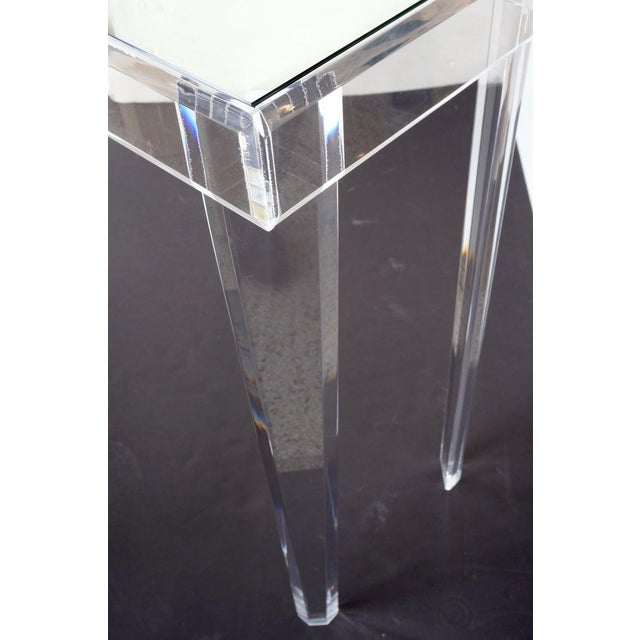 """Vintage Lucite and Mirror Console 60"""" - Floor Sample For Sale - Image 12 of 13"""