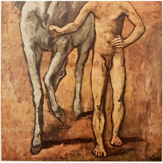 """Pablo Picasso 1950s Picasso, Original """"Boy Leading a Horse"""" Period Lithograph For Sale - Image 4 of 10"""