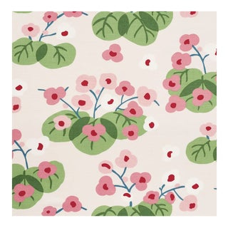 Schumacher Saku Pink Fabric- 2 Yards For Sale