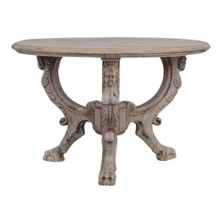 Antique French Sculptural Center Table For Sale