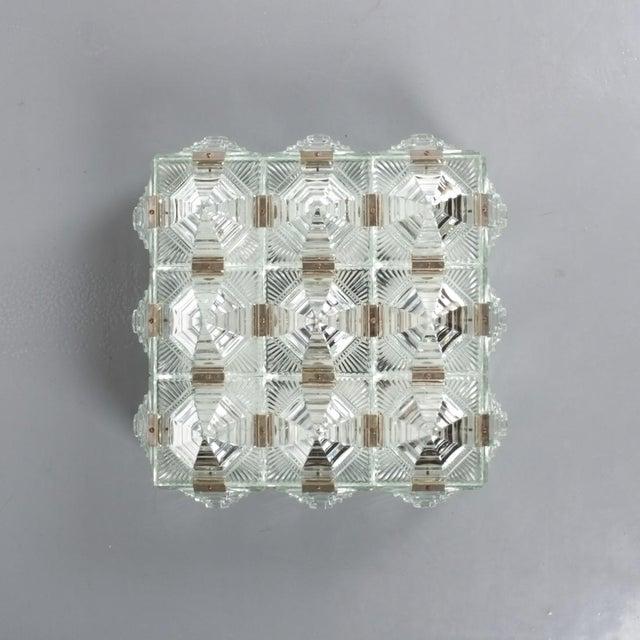 Kamenicky Senov Novy Bor 1 of 7 Kamenicky Senov Bohemian Glass Flush Mount Ceiling Lamp, Czechia For Sale - Image 4 of 13