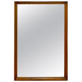 Midcentury Walnut Mirror by Strata for Unagusta For Sale