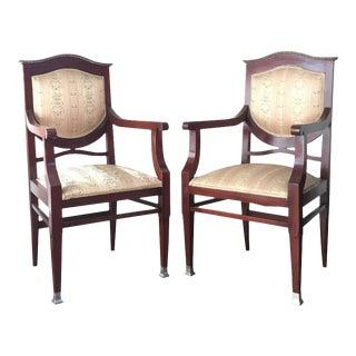 19th Century Regency Mahogany Armchairs - A Pair For Sale