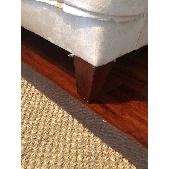 Vintage Long Three Cushion Velvet Upholstered Sofa For Sale - Image 10 of 11