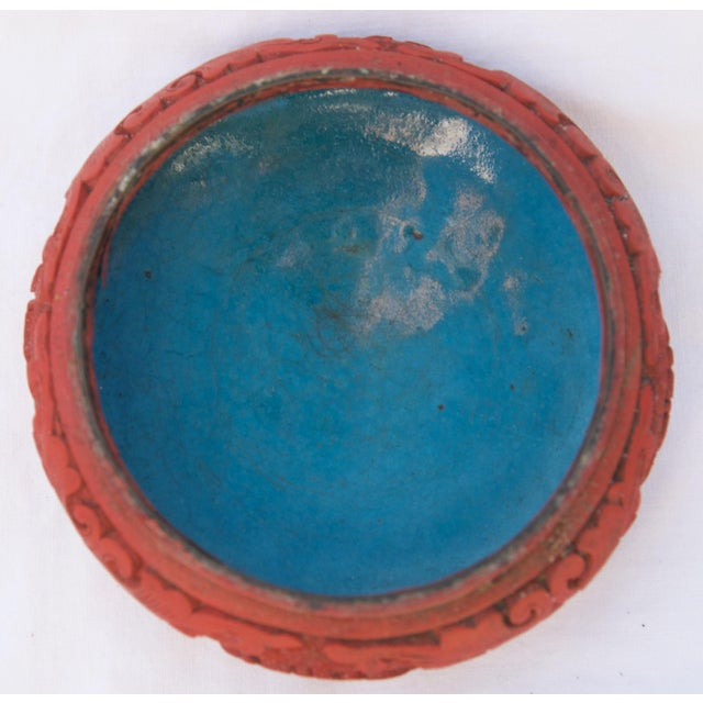 Asian Antique Antique Asian Cinnabar Bowl For Sale - Image 3 of 11