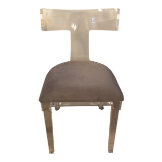 Interlude Home Tristan Acrylic Klismos Chair For Sale