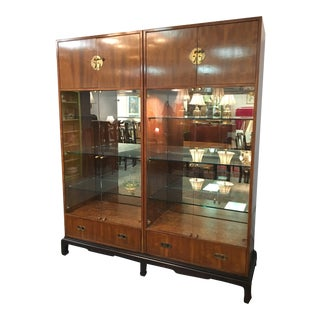 1970s Asian Modern Henredon Display Cabinet For Sale