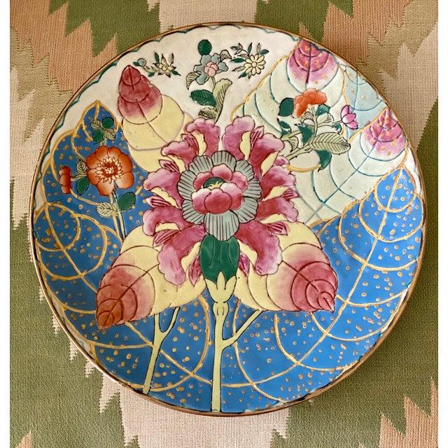 Blue Tobacco Leaf Plate For Sale - Image 8 of 11