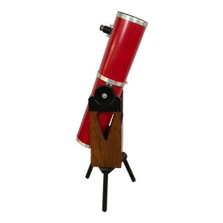 Dobsonian Type Red Telescope Functional Sculpture