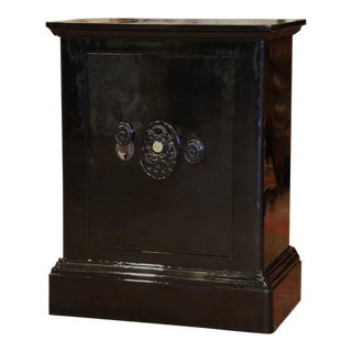 "19th Century French Metallic Black Painted Iron ""Fichet"" Fire Safe For Sale"
