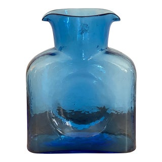 1950s Blue Blenko Carafe For Sale