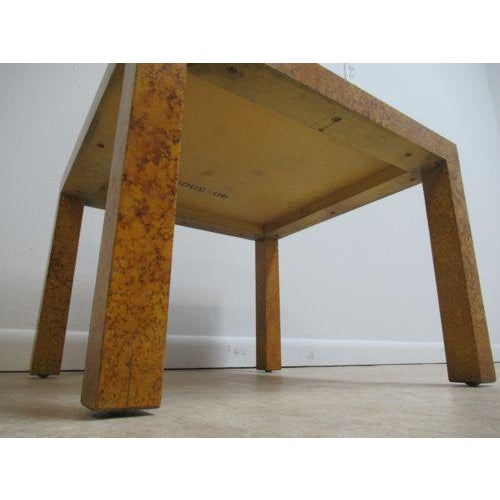 Wood Henredon Decorator Faux Painted Coffee Table For Sale - Image 7 of 10