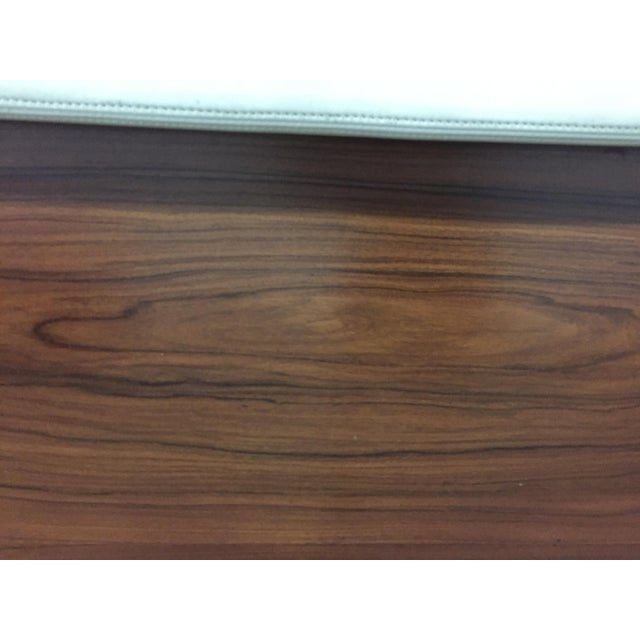 Brown King Solid Mahogany and Leather Bed Headboard by Morlen Sinoway For Sale - Image 8 of 13
