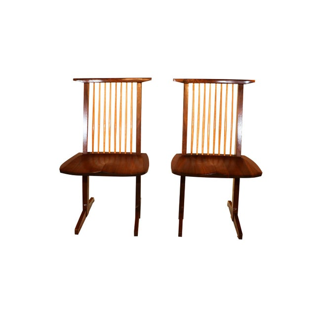 George Nakashima Conoid Chairs - A Pair - Image 3 of 11