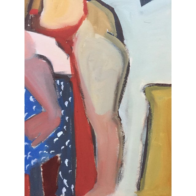 1940-50s Vintage Bay Area Figurative Female Nude Painting by Jerry Opper - Image 5 of 7