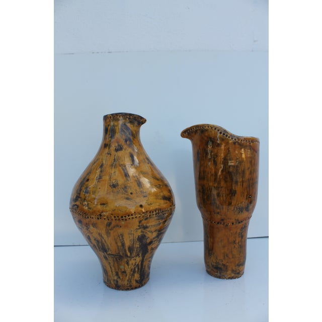 Vintage Decorative Studio Pottery Vases - A Pair - Image 10 of 10