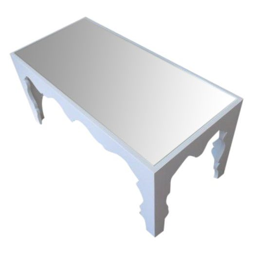 White Lacquered Coffee Table - Image 1 of 7