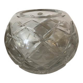 Cut Crystal Rose Bowl, Hungary For Sale