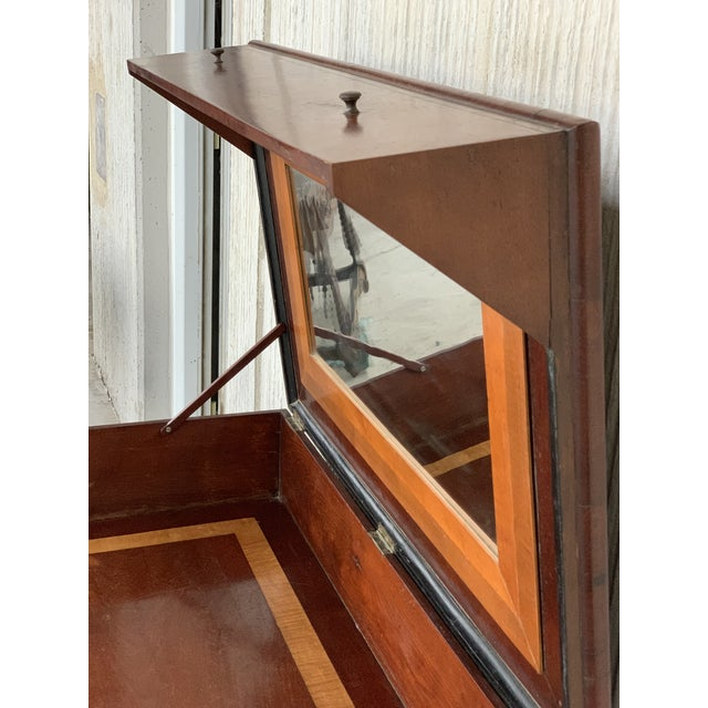 19th Rosewood Art Deco Open Up Vanity or Secretary Desk. Dressing Table For Sale - Image 9 of 11