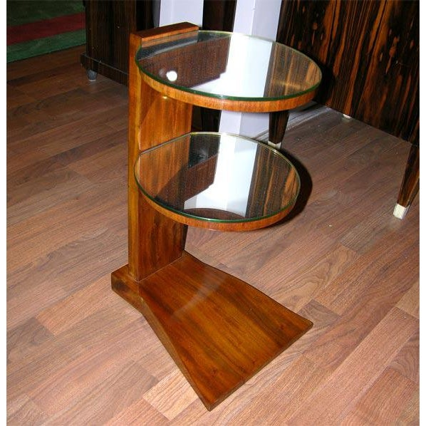 Jules Leleu Pair of French Art Deco Mirrored Tables by Jules Leleu For Sale - Image 4 of 6