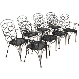 Elkins-Attributed Iron Loop Chairs - Set of 8