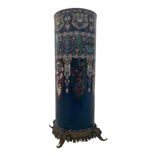 1900s Large French Japonisme Vase For Sale
