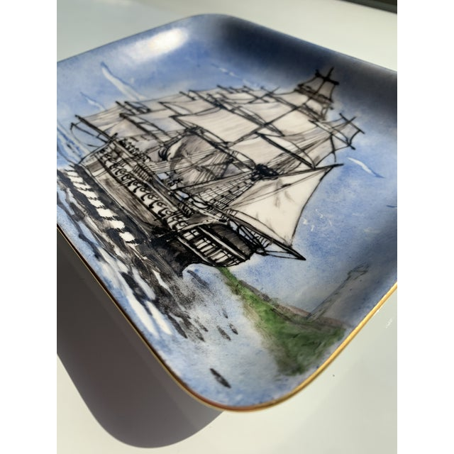 Nautical 1970s Nautical Porcelain Tray For Sale - Image 3 of 12