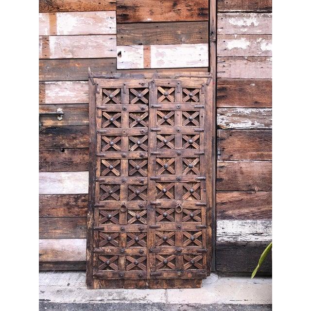 Islamic Antique Carved Moorish Door For Sale - Image 3 of 10