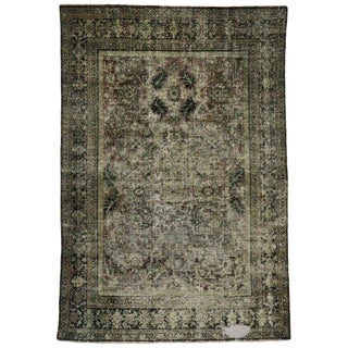 Late 19th Century Antique Persian Mahal Rug - 6′10″ × 10′2″ For Sale