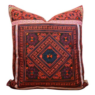 Four Points Ethnic Embroidered Pillow For Sale