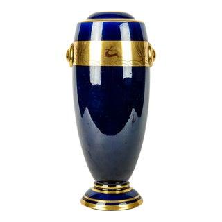 Vintage French Porcelain Art Deco Style Deco Vase For Sale