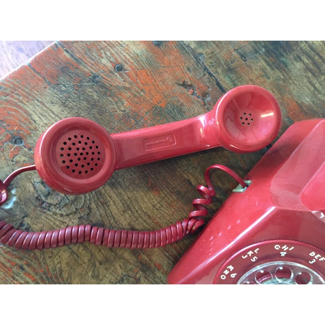 Vintage Red Rotary Telephone - Image 6 of 11