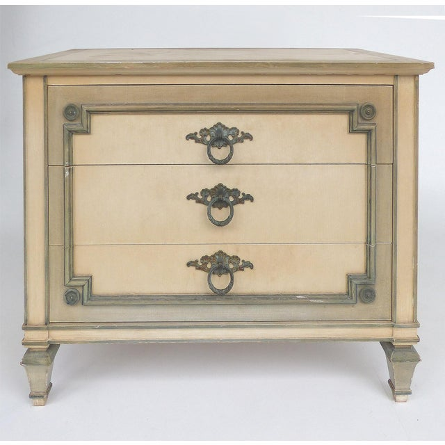 1980s John Widdicomb Hand Painted Night Tables With Drawers, Pair For Sale - Image 5 of 13
