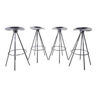 Pepe Cortes Mid-Century Modern Stainless Steel Stools - Set of 4