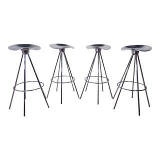 Pepe Cortes Mid-Century Modern Stainless Steel Stools - Set of 4