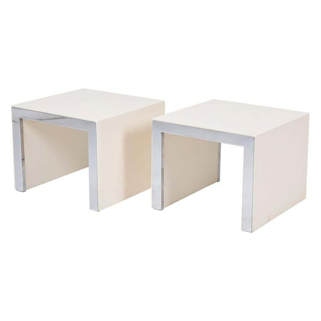 Metal Tommaso Barbi Side Tables - a Pair For Sale - Image 7 of 7