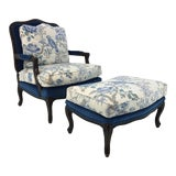 Image of Traditional Pearson Co. 1416 Chair and Ottoman Set For Sale