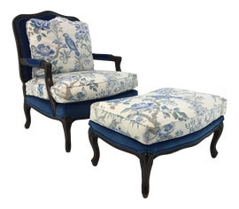 Image of Traditional Chair and Ottoman Sets