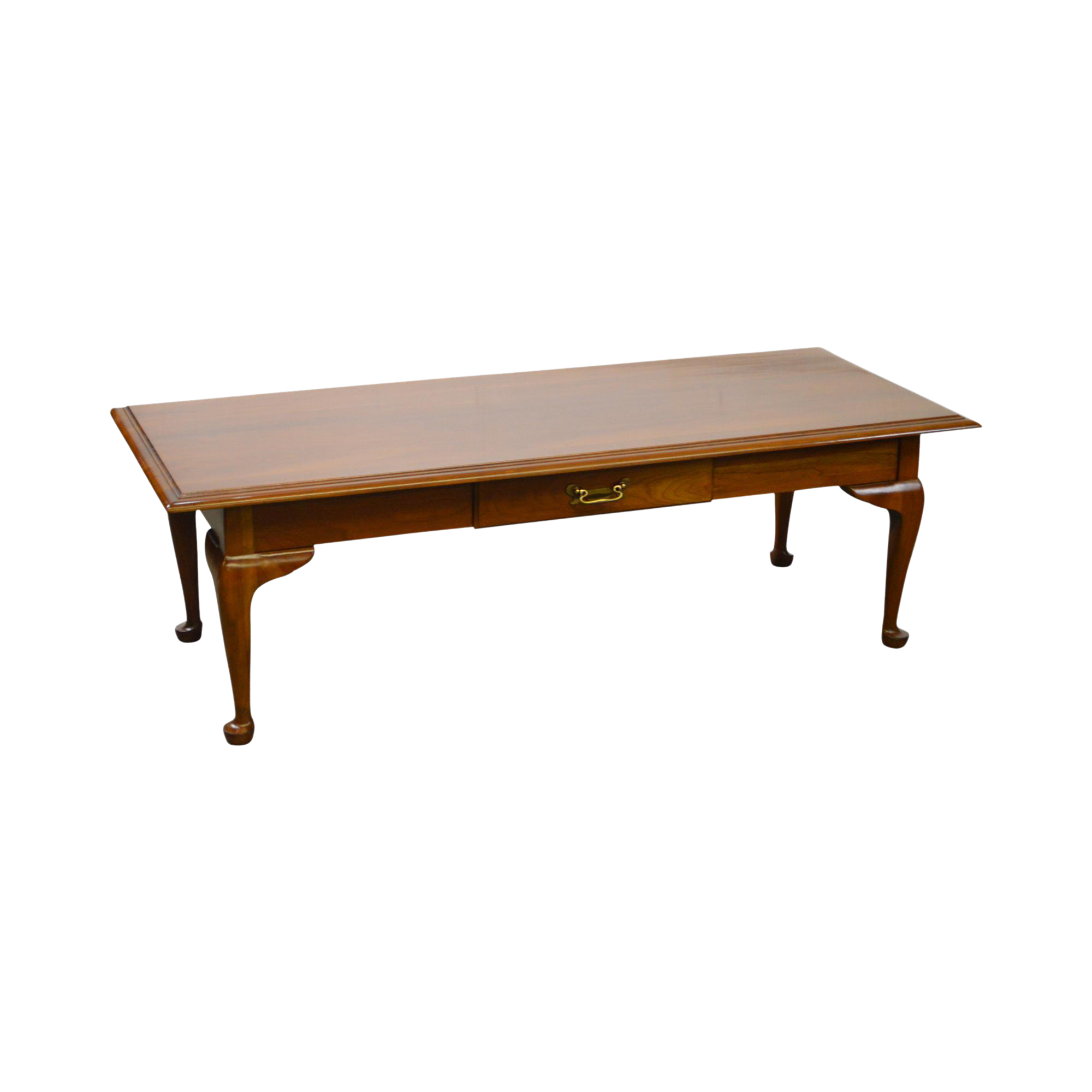 Harden Solid Cherry Queen Anne Traditional 1 Drawer Coffee Table