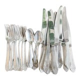 Image of Silver Plated Flatware From the Waldorf Astoria - Service for 10 For Sale