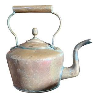Spun Copper English Tea Kettle For Sale