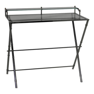 Campaign Style Chrome Writing Desk For Sale