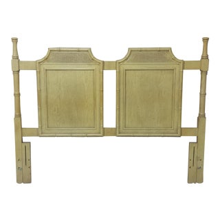 Vintage Pagoda Faux Bamboo Queen Headboard For Sale
